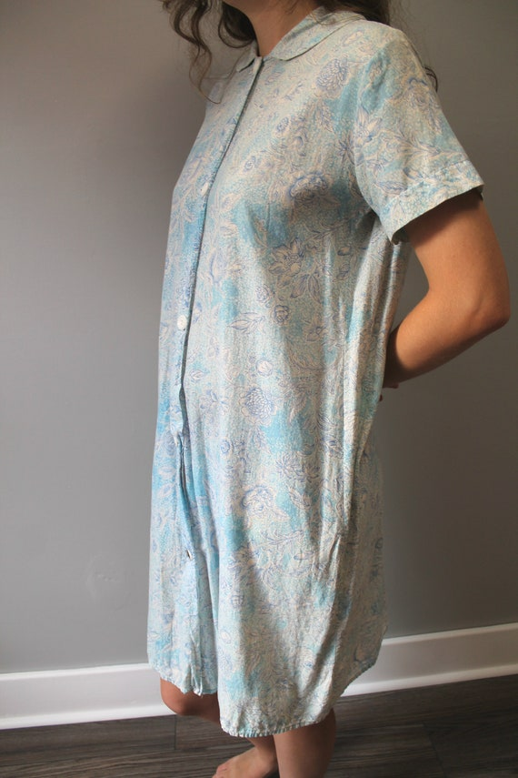 Washing Day Dress - 1930s feedsack floral button … - image 2