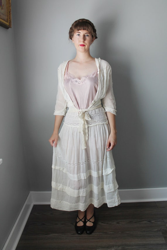 Yesterday's Ghost Dress - 1910s Edwardian antique