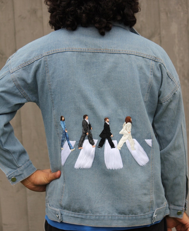 d8fb5f7d53f The Beatles Abbey Road Hand Embroidered Denim Jacket