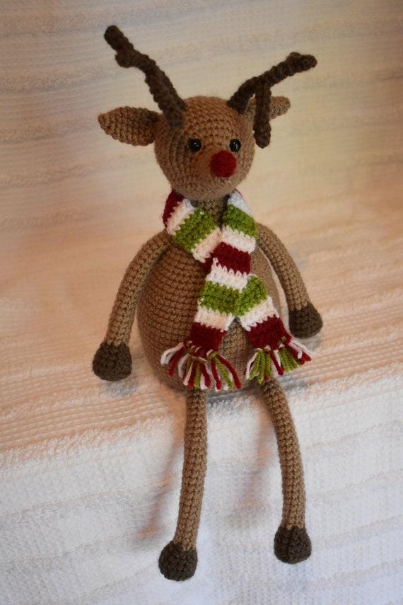 035 Crochet Pattern - Reindeer Rudolph toy - Amigurumi PDF file by ...   855x570