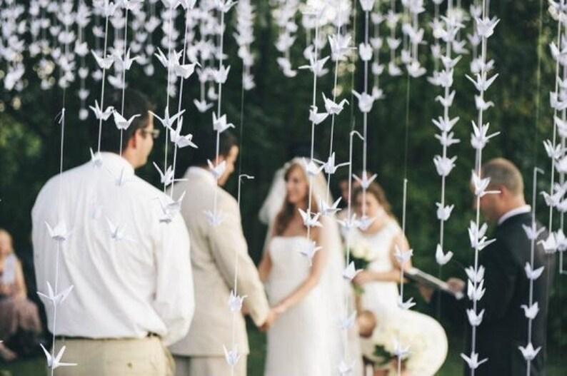 5000 White Origami Paper Cranes Wedding Decor Party Decor