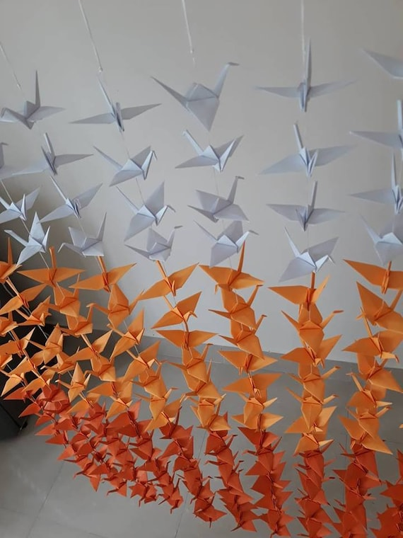 3 Foot String of Origami Cranes | 760x570