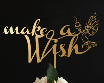 Make a Wish Cake Topper, Wedding Cake Topper, Mr and Mrs Cake Topper, Personalized Cake Topper for Wedding, Anniversary, Birthday