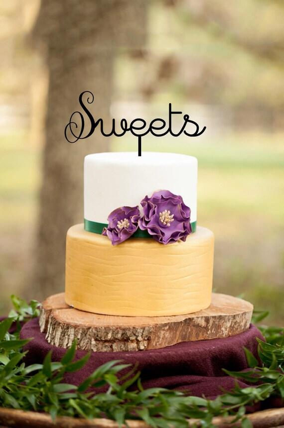 Custom Wedding cake topper Sweets Cake Topper Wedding Cake | Etsy