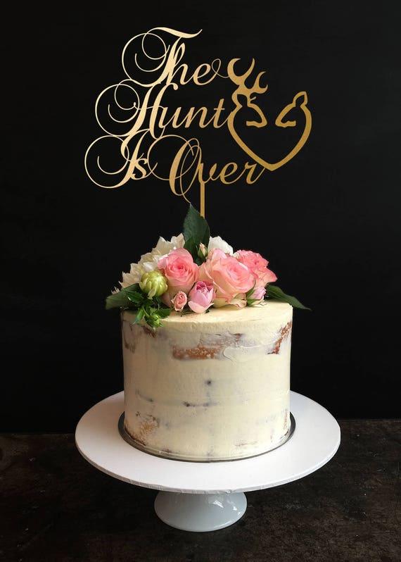 Jagd Ist Uber Cake Topper Hochzeitstorte Jagd Kuchen Deckel Etsy