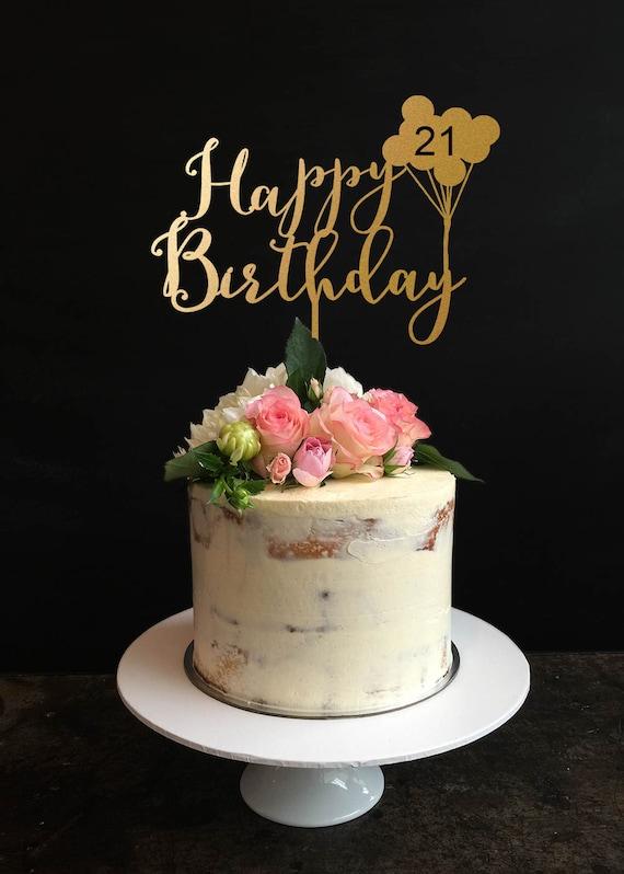 Birthday Cake Topper Custom Happy Birthday Cake Topper for | Etsy