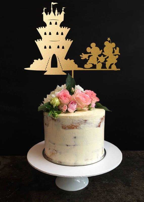 Disney Hochzeitstorte Schloss Kuchen Deckel Mickey Minnie Hochzeit Kuchen Topper Personalisierte Hochzeitstorte Topper Kundenspezifische