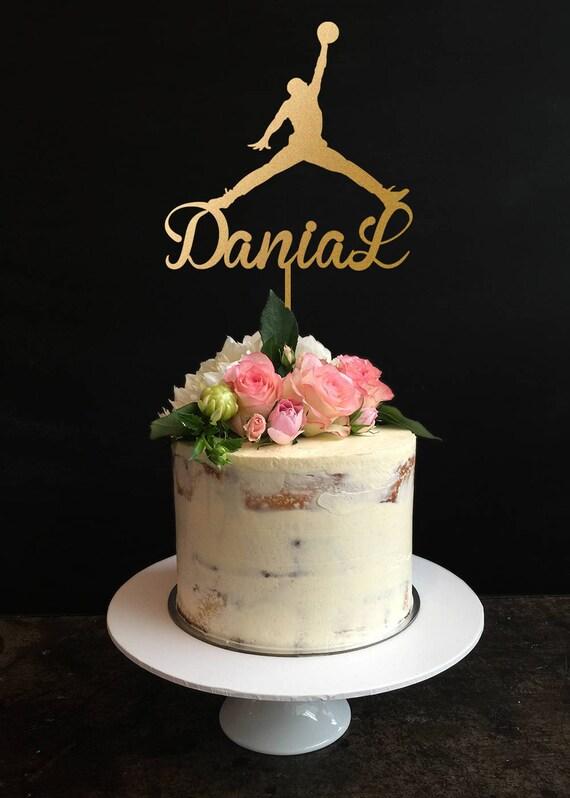 Michael Jordan Cake Topperplayer Cake Topperjordan Birthday Etsy