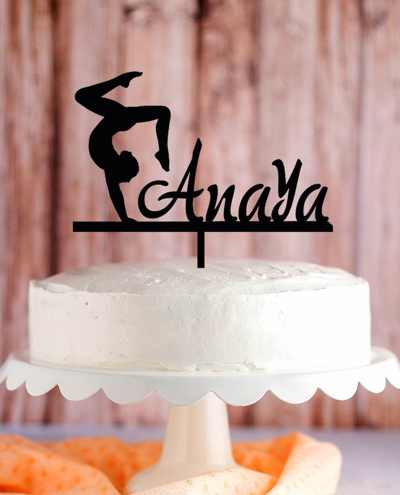 Prime Gymnastics Cake Topper Gymnastics Personalized Birthday Cake Etsy Personalised Birthday Cards Bromeletsinfo