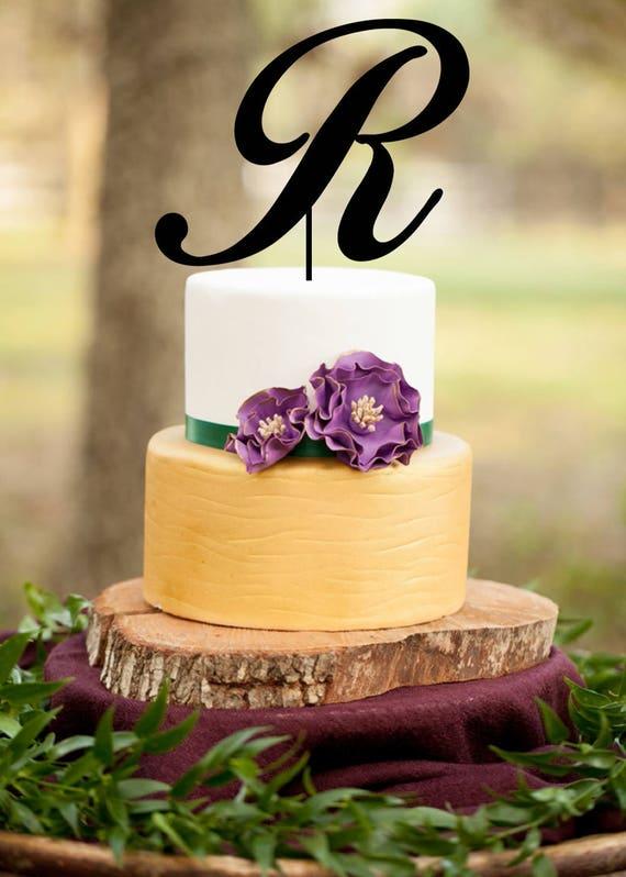 Monogram Wedding Cake topperSingle Letter Monogram Wedding | Etsy