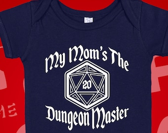 D20 Nerdy moms 20 sided die Dungeons and Dragons baby shower,Geekbait geek baby Mother of Dragons RPG baby gift set future gamer