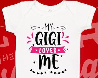 Gigi Loves Me to The Moon /& Back Baby Bodysuit Playwear Cute Short Sleeve Romper Black