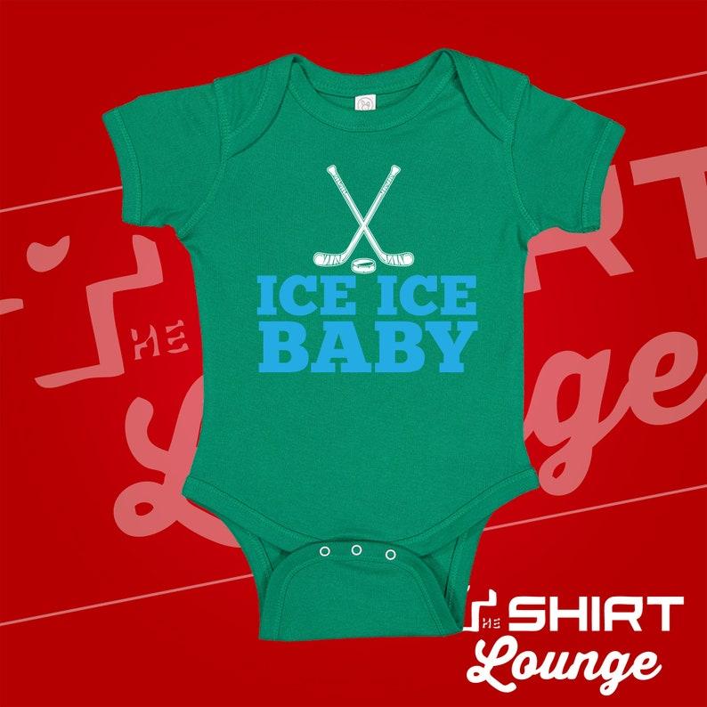 Gift For Hockey Fan Dad Mom Baby Hockey Clothes Hockey Themed Baby Stuff Item Ice Hockey Baby Bodysuit One Piece or Toddler Shirt