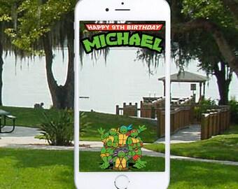 Teenage Mutant Ninja Turtles Snapchat Geofilter