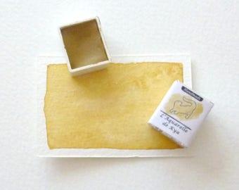 Ochre yellow 1/2 cup _Handmade_ hand made watercolor