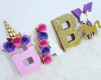 Decorazione Festa Unicorno Prime Lettere Di Compleanno