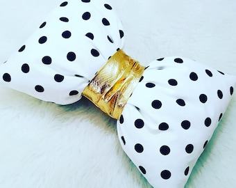 Kate Spade Inspired Pillow~Bow Pillow~Polka dot Pillow