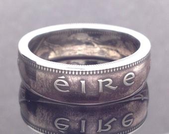 Irish One Shilling Coin Ring (1951-1968)
