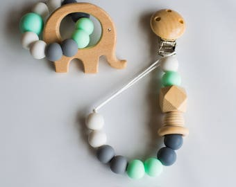 Set dummy clip and teether/ silicone beads