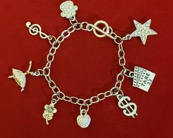 "Set of 2 /""Western/"" Theme Charm for Snake Chain Charm Bracelets"
