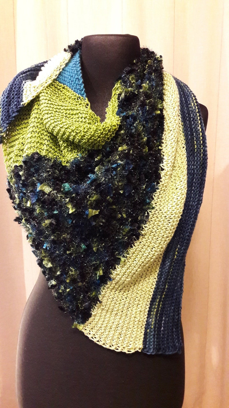 Cloth hand knitted designed by ClaudiaBehr merino & cotton image 0