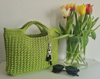 NEW Shopper crocheted, stostand, made of rope yarn