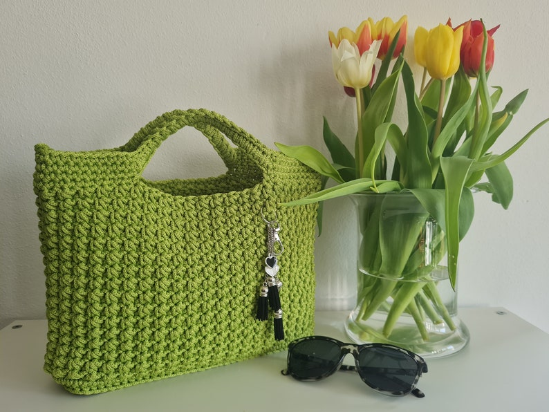 NEW Shopper crocheted stostand made of rope yarn image 0