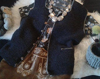 Costume Vest, Allgäuer costume janker, ladies vest, alldelana, on order, also in other colours and sizes possible