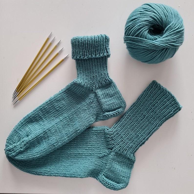 Wellness socks made of 100% merino wool hand knitted in many 00176 meergrün