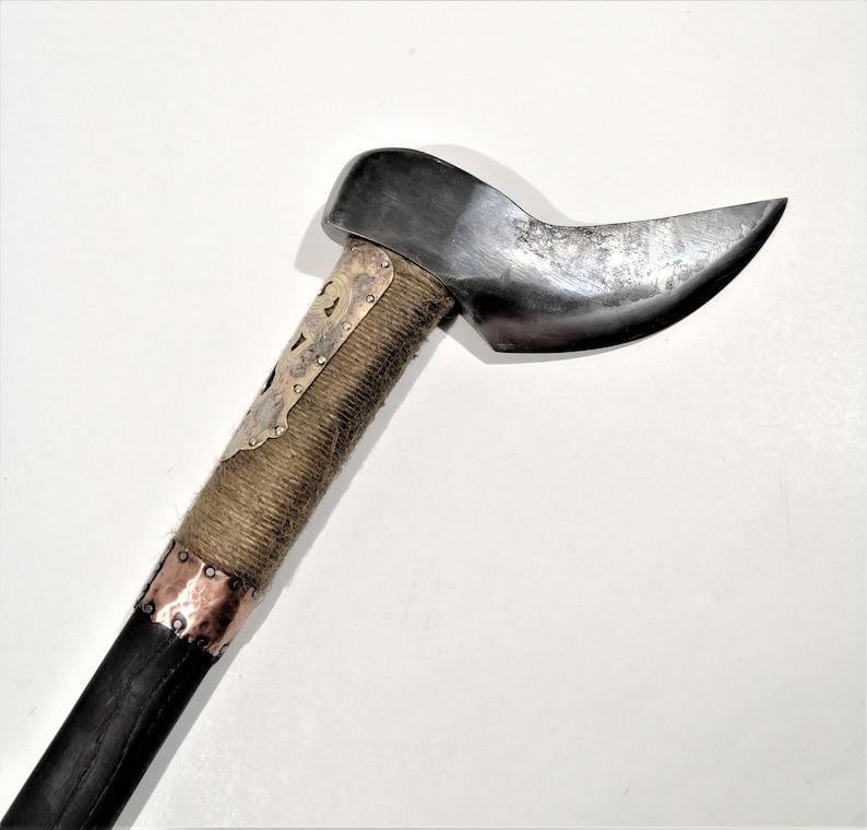 Hand forged camp hatchet battle ax
