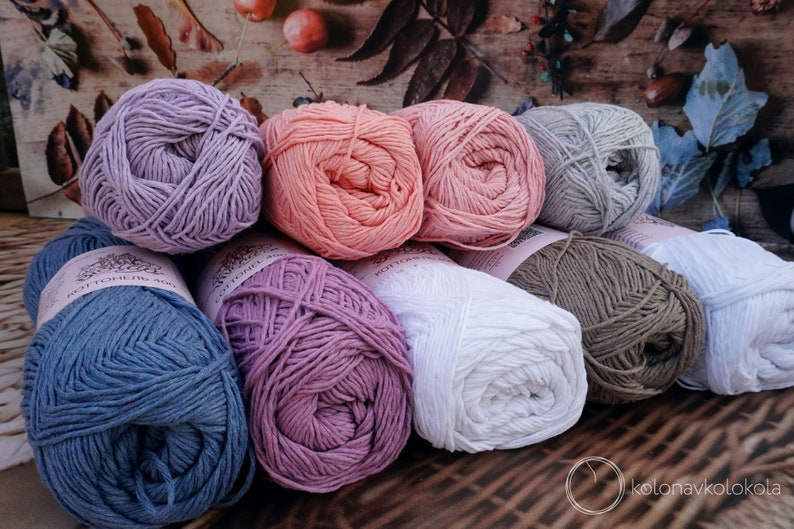 Set of cotton yarn Premium Yarn for clothes toys 9 colors baby blankets 1800g