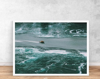 Blue Sea Print, Norway print wall art, Sea poster, Printable Poster, Ocean Print, Ocean Wall Print, Ocean Photo, Norway, Printable Sea, Sea