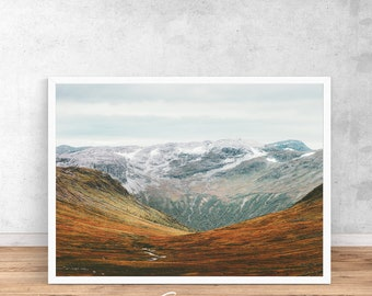 Norway print, Norway printable wall art, scandi print, norwegian wall art, mountain print, nature poster, Norway poster,Mountain Photography