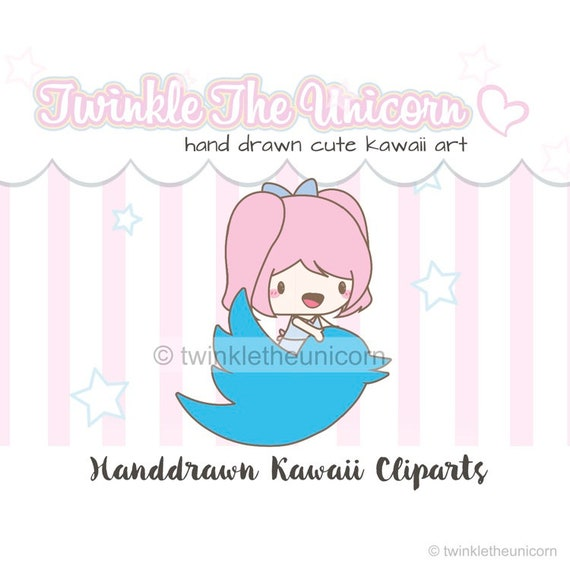 kawaii clipart JOLINA GIRL happy mail clipart girl clipart planner stickers planner accessories kawaii cute clipart planner clipart
