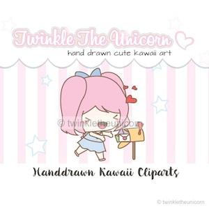 Cute Character Happy Mail Clipart Kawaii Girl