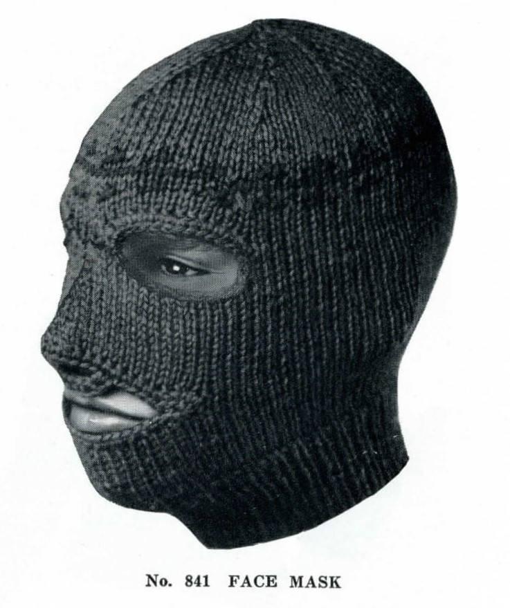 Pdf 60s Vintage Knitting Pattern Winter Face Ski Mask Etsy
