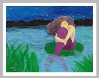 """LIQUIDATION SALE: The Lost Mermaid 11""""x14"""" Fine Art Print - Last one left!!!"""