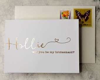 Will you be my Bridesmaid | Rustic Bridesmaid custom bride squad card, Bridesmaid proposal, perfect bridesmaid gift, Rose gold bridesmaid