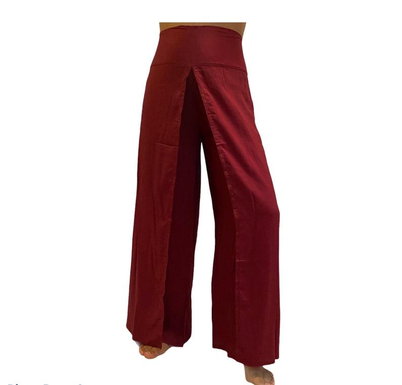 Open Leg Solid Color Boho Pants,Hippie Harem Pants,Beach Rayon Pants,Summer Slit Pants,Yoga Pants Wide Leg Pants,Festival Clothing,Bohemian