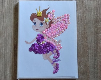 Diy button art kit for kids button canvas craft kit ballon etsy fairy diy button art kit button canvas craft kit art puzzle do it yourself colorful picture solutioingenieria Choice Image