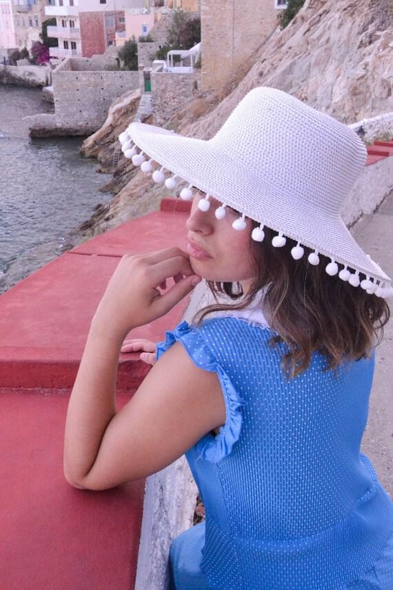 Blue Pleated Polka Dots 60's Dress