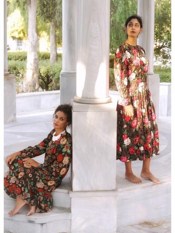 Vintage Floral Loose Swing Dress