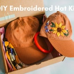 DIY Embroidered Hat Kit - Sunflower