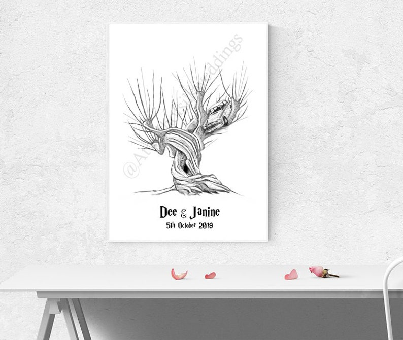 Whomping Willow Fingerprint Guest Book with Ink image 0