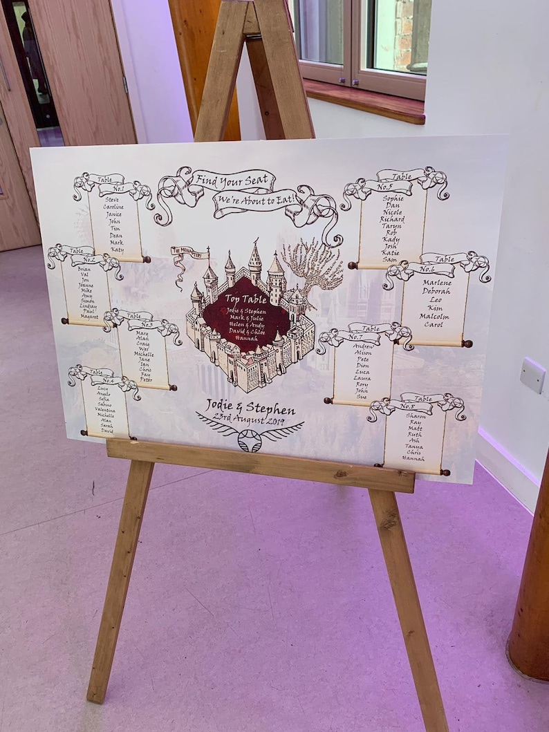 Harry Potter Themed Table Plan image 0