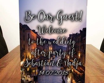 Venice Themed Welcome to our Wedding Sign