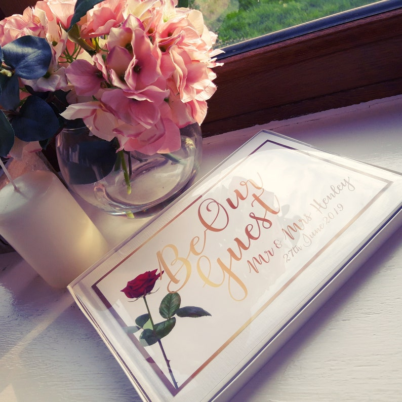 Personalised Be Our Guest Wedding Guest Book image 0