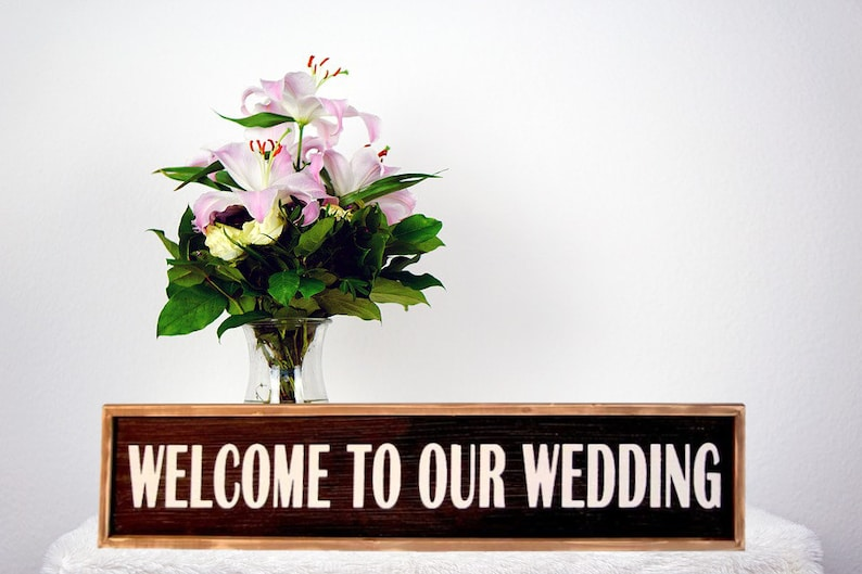 Large Welcome to Our Wedding Plaque image 0