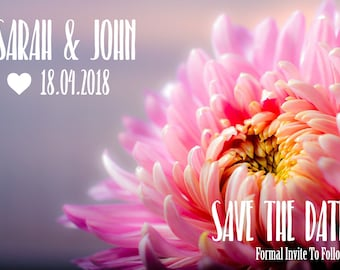 Floral Pink Wedding Save The Dates  - Pack of 50