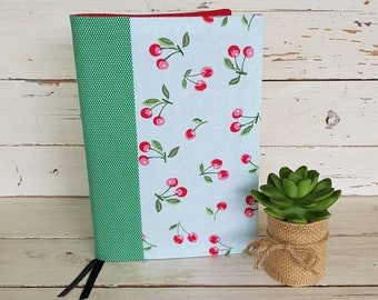 A6 Notebook with fabric cover - Notebook and cover - ruled notebook - A6 bujo - A6 fabric notebook - A6 lined notebook with cover - Gerti